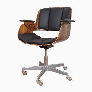 Mid-Century Rosewood Office Chair by Hans Könecke for Tecta, 1954