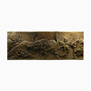 Folk Art Carved Wooden Panel from Moari 85, 1950s