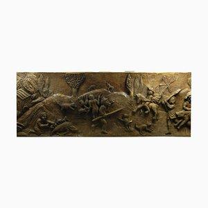 Geschnitzte Folk Art Holztafel von Moari 85, 1950er