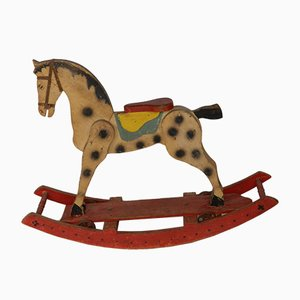 French Painted Rocking Horse, 1930s