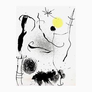 Bunte Lithografie von Joan Miró für G. Di San Lazzaro, 1964