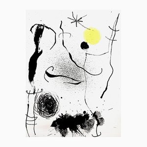 Litografia colorata di Joan Miró per G. Di San Lazzaro, 1964