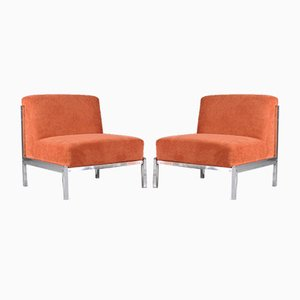 Chrome Fire Side Chairs, 1970s, Set of 2
