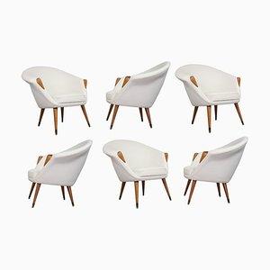 Scandinavian Modern Off White Sculptural Lounge Chair, 1950s