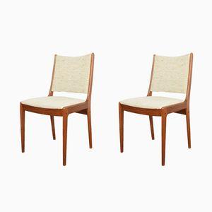 Dänische Mid-Century Stühle aus Teak von Johannes Andersen, 1960er, 2er Set