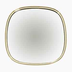 Large Mid-Century Brass Wall Mirror from Vereinigte Werkstätten