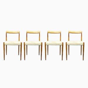 Stühle aus Teak von Lübke, 1960er, 4er Set
