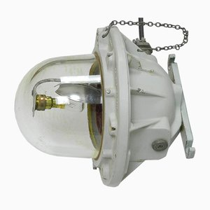 Large Industrial Spinning Bulk Head Light from ATX Legrand, 1960s