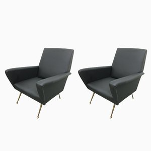 Vintage Armchairs by Nino Zoncada, 1950s, Set of 2