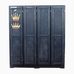 Industrieller Vintage Schrank mit 4 Türen