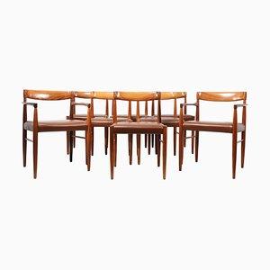 Sedie da pranzo Mid-Century in palissandro, anni '60, set di 8