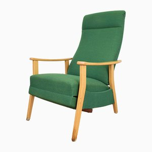 Mid-Century German Armchair with Footstool, 1960s