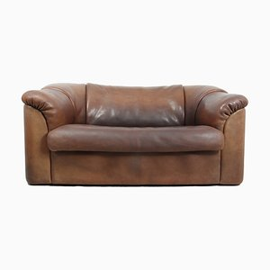Brown Neck Leather DS45 Sofa from de Sede, 1980s