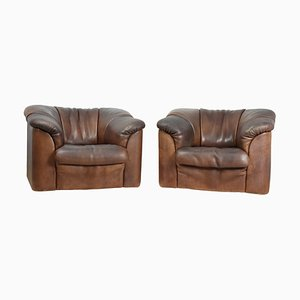 Brown Neck Leather DS45 Chairs from de Sede, 1980s, Set of 2