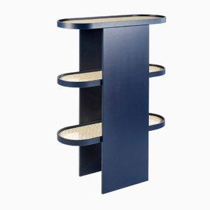 Librería Piani de acero en azul de Patricia Urquiola para Editions Milano, 2019
