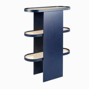 Steel Blue Piani bookshelf by Patricia Urquiola for Editions Milano, 2019