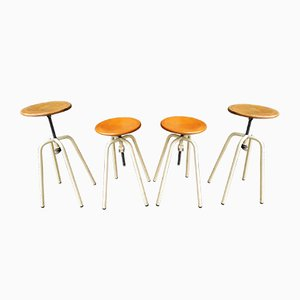 Stools from Jide Limoges, 1960s, Set of 4
