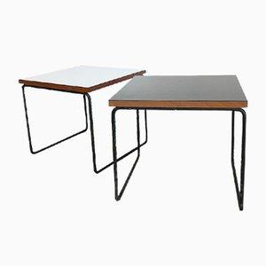 Tavolini vintage di Pierre Guariche per Steiner, set di 2