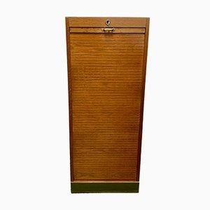 Vintage Aktenschrank mit Rolltür