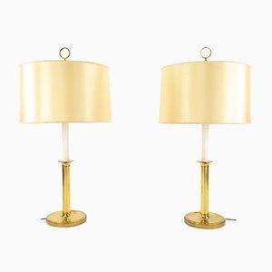 Lampes Vintage en Laiton Doré par G.W. Hansen pour Metalarte, Set de 2