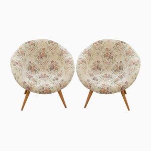 Mid-Century Czech Lounge Bucket Chairs, Set of 2