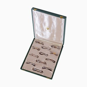 Appoggia-posate placcati in argento di Gallia per Christofle, anni '30, set di 12