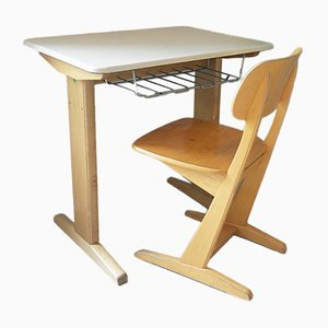 Casala Desk & Chair Set by Karl Nothhelfer for VS, 1960s