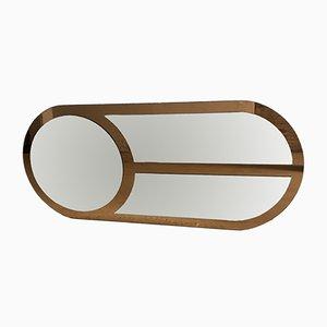 Specchio da parete ovale Mid-Century moderno, Italia, anni '70