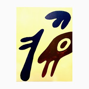 Lithograph by Jean Arp, 1962