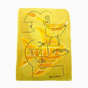 Lithograph by Victor Brauner for G. Di San Lazzaro, 1963