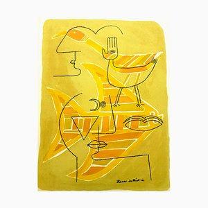 Litografia di Victor Brauner per G. Di San Lazzaro, 1963