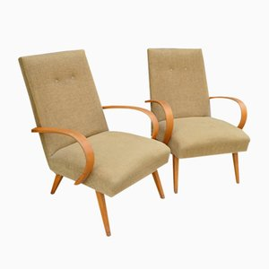 Mid-Century Armchairs by Jindrich Halabala, Set of 2