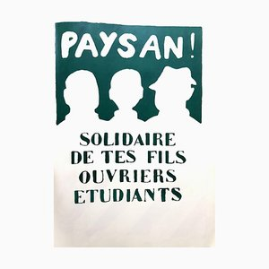 Französisches Mai 68 Solidarity Poster von Tchou Editions, 1968