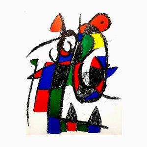 Abstrakte Lithografie von Joan Miró, 1975