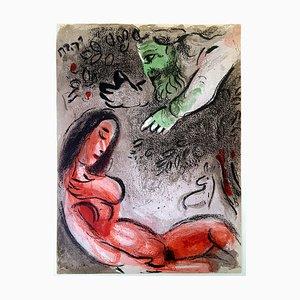 Litografia Eve in the Bible di Marc Chagall per Revue Verve, 1960