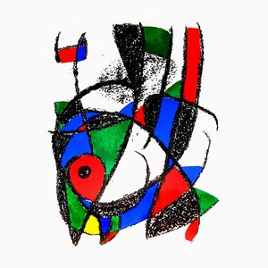 Abstract Lithograph by Joan Miró, 1976