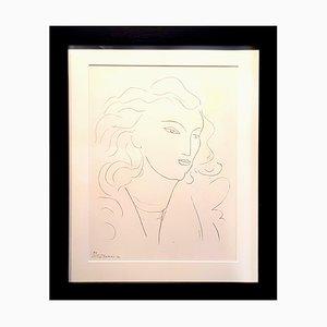 Litografía Woman de Henri Matisse para Fabiani Editions, 1943
