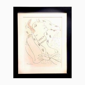 Lithographie Woman par Henri Matisse pour Fabiani, 1943