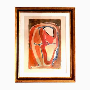 Litografía Abstract Composition de Bram Van Velde, años 50
