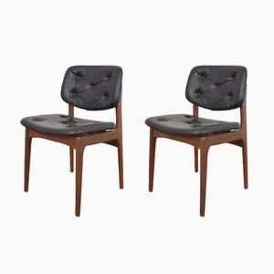 Mid-Century Danish Teak Dining Chairs, 1960s, Set of 2