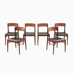 Scandinavian Chairs by Henning Kjaernulf for KS Möbler, 1960s, Set of 6