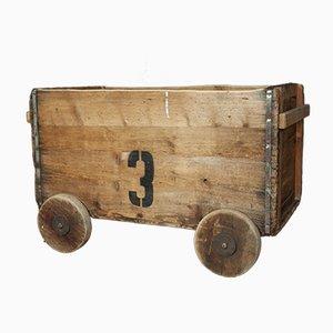 Carrito de almacenamiento vintage, años 30
