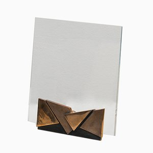 Vintage Lucite & Bronze Picture Frame by Esa Fedrigolli, 1970s