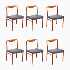 Teak Chairs by Kai Lyngfeldt Larsen for Søren Willadsen, Set of 6