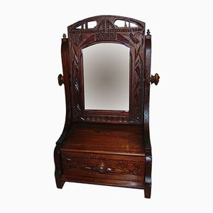 Art Nouveau Wooden Table Mirror