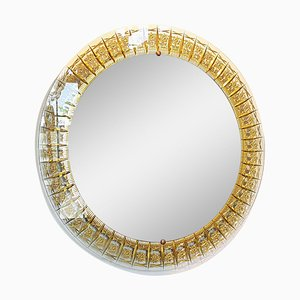 Round Mid-Century Wall Mirror from Cristal Art, 1960s