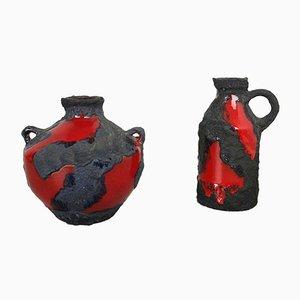 Vases en Céramique de Marei, Allemagne, 1970s, Set de 2