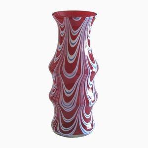 Vaso vintage in vetro di Murano di Carlo Moretti, anni '70