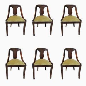 Empire Gondola Stühle aus Mahagoni, 1960er, 6er Set