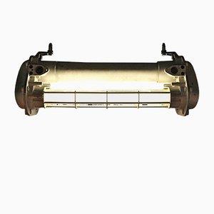 Industrielle Neon Deckenlampe von Schreder, 1960er